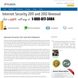 Internet Security 2011 Removal Support at 1-888-817-3484 Toll free Number