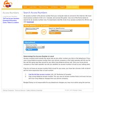 Low Cost Dial Up Internet Service - Access Number Search