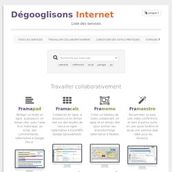 De-google-ify Internet - List of services - Framasoft