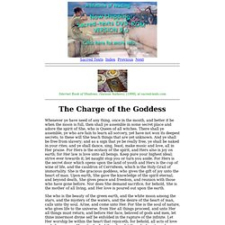 The Charge of the Goddess (D. Valiente)