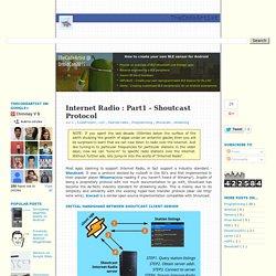 Internet Radio : Part1 - Shoutcast Protocol