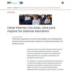 Llevar Internet a las aulas, clave para mejorar los sistemas educativos