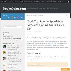 How to check internet speed using speedtest-cli in Ubuntu