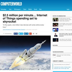 ​$2.5 million per minute… Internet of Things spending set to skyrocket