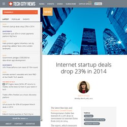 Internet startup deals drop 23% in 2014