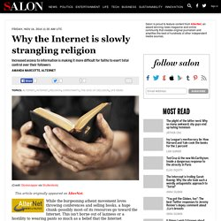 Why the Internet is slowly strangling religion