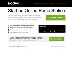 Free Online Radio Streaming Platform - iRadeo