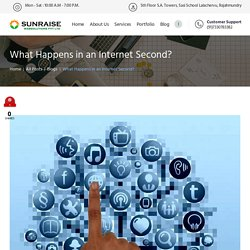 What Happens in an Internet Second? - Sunraise Websolutions