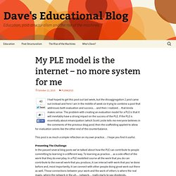 My PLE model is the internet – no more system for me @ Dave's Educational Blog