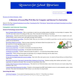 Internet and Technology Lesson Plans