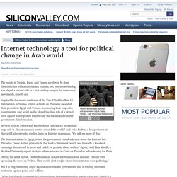 Internet technology a tool for political change in Arab world