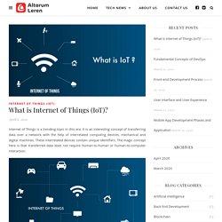 What is Internet of Things (IoT)? - Altorum Leren