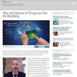 Why the Internet of Things isn't like the Big Bang - Microsoft for Work