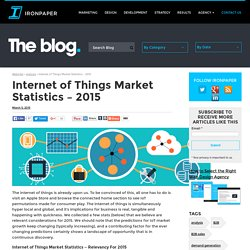 Internet of Things Market Statistics - 2015 - IoT stats