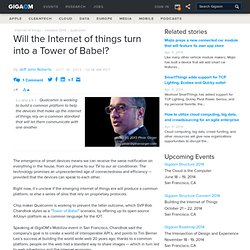 Will the Internet of things turn into a Tower of Babel?