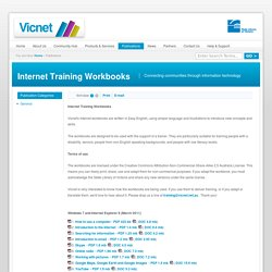 Internet Training Workbooks
