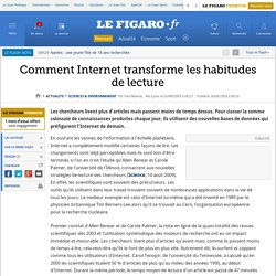 Comment Internet transforme les habitudes de lecture?