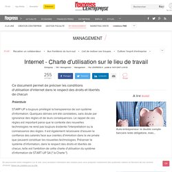 Internet - Charte d'utilisation sur le lieu de travail