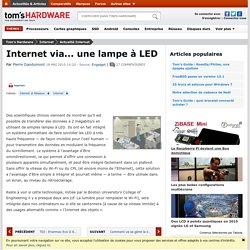 Internet via... une lampe à LED