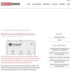 WordPress lokal auf Mac OS X installieren › Internetagentur Kreativdenker GmbH