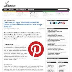 Der Pinterest Hype - Internetfundstücke teilen, liken und kommentieren