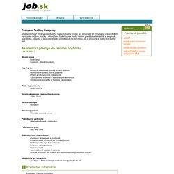 JOB.sk - internetový trh práce. Práca, zamestnanie, kariéra, brigády.