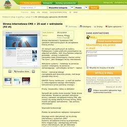Strona internetowa CMS + 25 szat + wdrożenie (62 zł) - Usługi - graficy i IT - Gumtree Śląskie