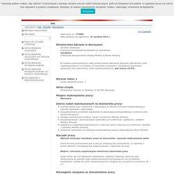 Kancelaria Prezesa Rady Ministrów - internetowa baza ogłoszeń o wolnych stanowiskach pracy w służbie cywilnej