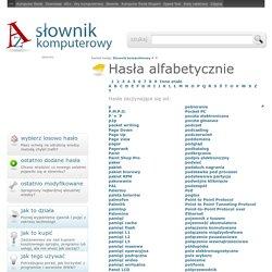 Internetowy słownik komputerowy - P - p2p, Paint, pakiet... - slownikkomputerowy.pl