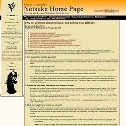 Norman L. Sandfield's Netsuke Home Page : FAQ : Selling your Netsuke