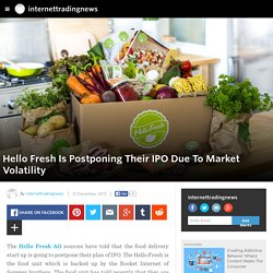 internettradingnews - Hello Fresh Is Postponing Their IPO Due To Market Volatility