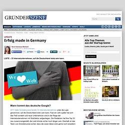Erfolg made in Germany: 33 Internetunternehmen, auf die Deutschland stolz sein kann