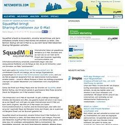 Ordner mit anderen Nutzern teilen: SquadMail bringt Sharing-Funktionen zur E-Mail