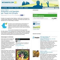 Social Commerce: Einkaufen und Spenden per Tweet mit Chirpify