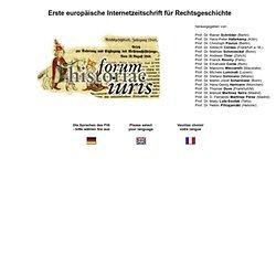 forum historiae iuris - Erste Europäische Internetzeitschrift fü