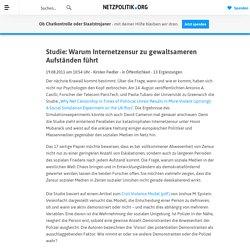 Studie: Warum Internetzensur zu gewaltsameren Aufständen führt » Von Kirsten » netzpolitik.org