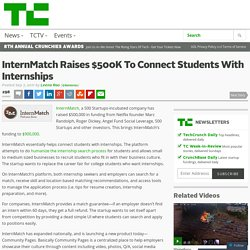 InternMatch Raises $500K To Connect Students With Internships
