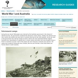 Internment camps - World War I and Australia - Research guides at State Library of New South Wales