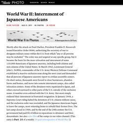 World War II: Internment of Japanese Americans