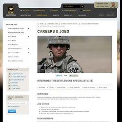 Internment / Resettlement Specialist (31E) | GoArmy.com