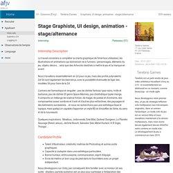 Internship offer Graphiste, UI design, animation - stage/alternance - Palaiseau (91) - Terebris Games (January 2021)