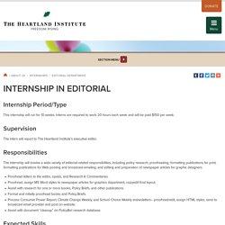 Internship in Editorial