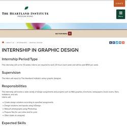 Internship in Graphic Design
