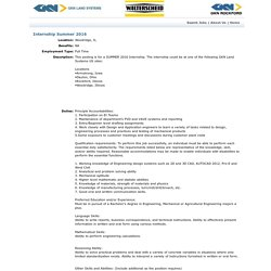 Internship Summer 2016 - Job Listing - GKN Land Systems Jobs