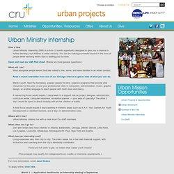 Urban Ministry Internship (Urban Mission Opportunities)