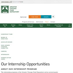 Internships/Americorps - Greater Chicago Food Depository