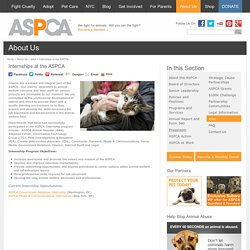 Internships at the ASPCA