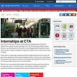 Internships at CTA - CTA
