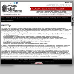 Internships - Chicago Crime Commission