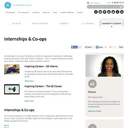 Internships & Co-ops